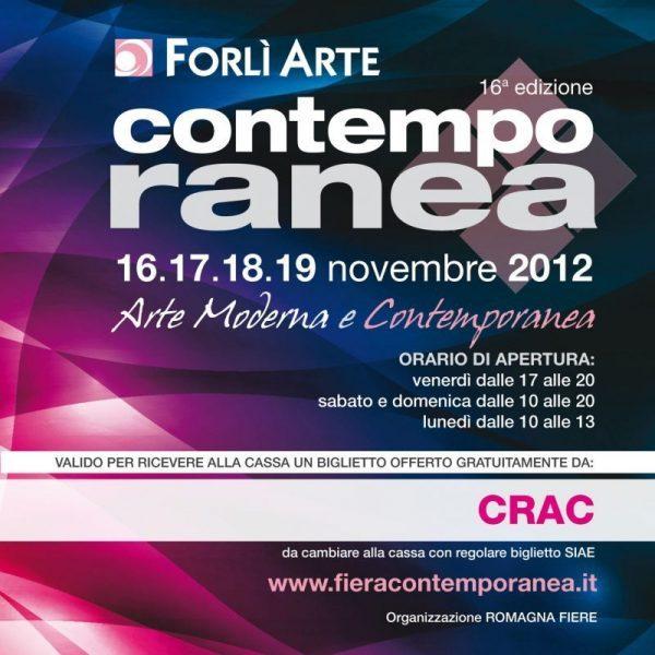 """Invito alla Fiera d'arte """"Contemporanea"""" di Forlì"""