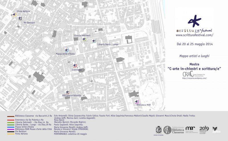 """""""C-arte, in-chiostri e scrittura/e"""" al I° ScrittuRa Festival – Catalogo"""